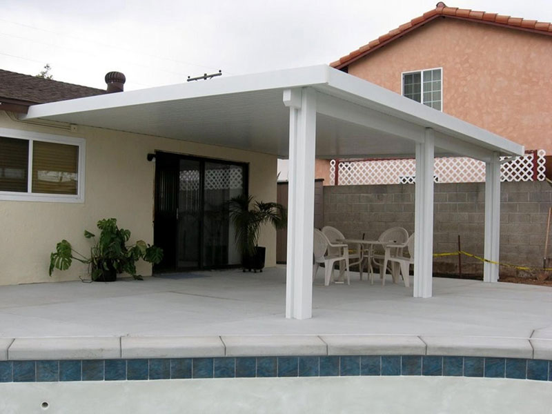Solid Roof Covers | North County Residential Patios, Lattice Shade ...