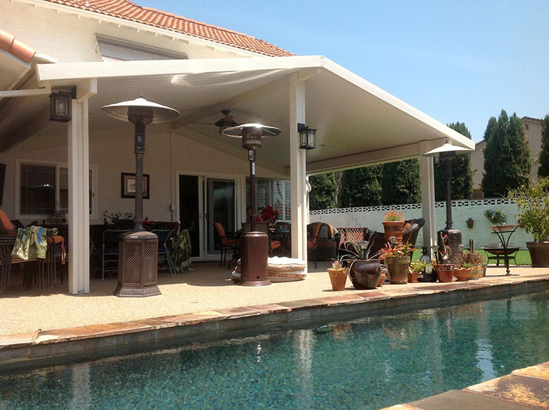 Solid Roof Covers | San Diego Residential Patios, Lattice Shade ...